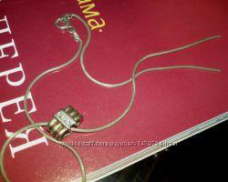 Серебряная цепочка 925пробы, подвеска c цирконами, ПЛЮС подарок