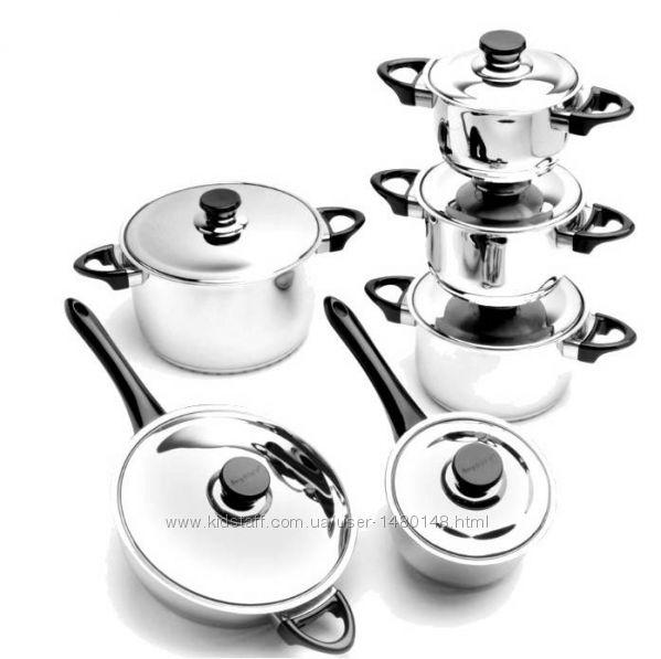 Востребованный Набор посуды BergHOFF OYSTER 12 пр. 1112213 Оригинал