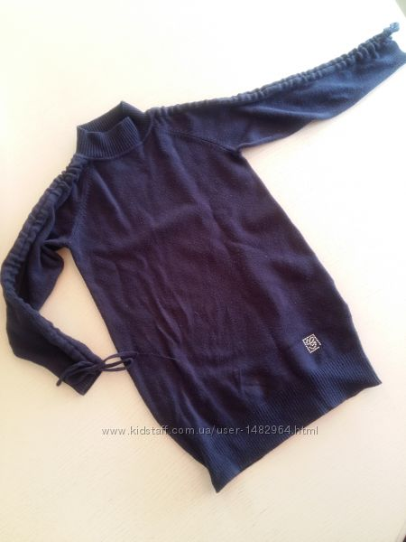 Туника платье синяя кофта Gaialuna синяя для девочки 4-5 лет TG. 26 свитер