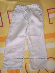 Фирменные льняные штаны monsoon на 5-6 лет