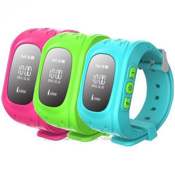Детские часы наручный телефон трекер с GPS Q 50