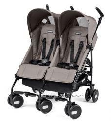Детская прогулочная коляска для двойни Peg-Perego Pliko Mini Twin Classico
