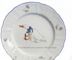 Тарелка обеденная 25см Bernadotte Гуси