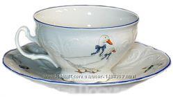 Чашка с блюдцем Bernadotte Гуси