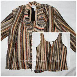 Красивый стрейчевый с блёстками пиджакблузка Ribkoff, комплект, Канада