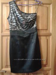 Платье на одно плечо с паэтками oodji
