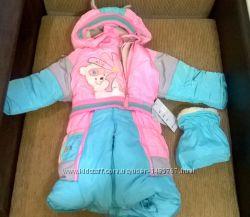 Комбинезон на овчине для новорожденной девочке