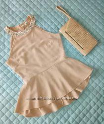 Шикарная блуза с баской и декором р. 44-46 M