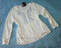 Изумительные блуза с вышивкой р. 52-56 евро 46