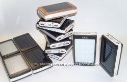 МеталическийPower Bank Solar 30000mAh на солнечной батарее с фонариком