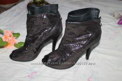 женские весенние ботинки босоножки с открытым носком