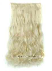 Волосы волнистые коричневые трессы на клипсах тресса