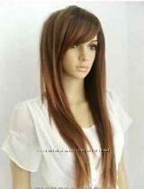 парик много видов прямой волнистый 70см черный коричневый русый