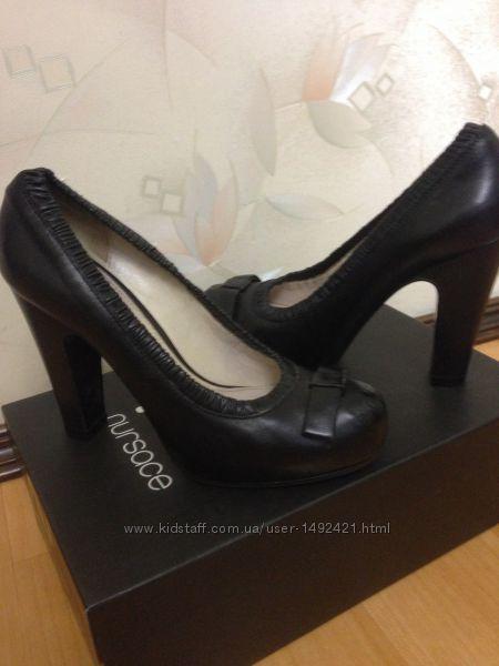 Туфли женские  р. 36 , Nursace натуральная кожа , Италия