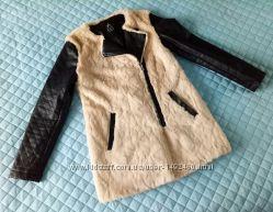 Куртка косуха длинная мех сверху р. 44-46 M-L