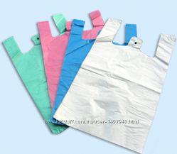 Полиэтиленовые пакеты- майка 28х48