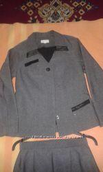 деловой костюм пиджак юбка 44 размер