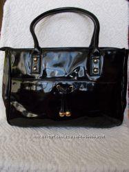 Лаковая сумка marks & spenser