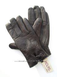 Размеры 8, 5 до 11, 5 Мужские перчатки из оленьей кожи на утеплителе