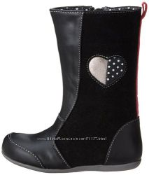 Демисезонные кожаные сапожки See Kai Run девочке, 3 US, 21, 5 см