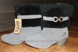 Зимние замшевые полусапожки на овчине Aussie Dogs, 8W