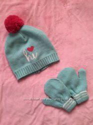Шапка  рукавички для дівчинкикомплект