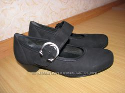 Gabor туфли нубук как новые 35 р по вст 23 см каблук 3. 5 см