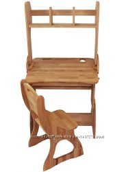 Комплект, парта, стул, надстройка ширина 70см