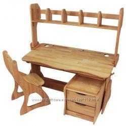 Комплект Парта, стул, надстройка, тумба ширина 120см