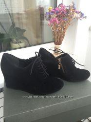 Туфли полуботинки Clarks замша