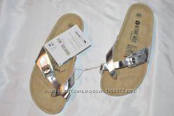 Шльопки шльопанці шкіра Esmara Німеччина розміри 4041, шлепки