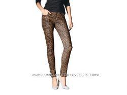 Стрейчевые скинни джинсы брюки леопард, Esmara Германия