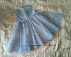 Платье нарядное с блеском фатин р. 68-80 6-12 мес