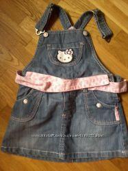 Сарафан джинсовый для девочки 86 см