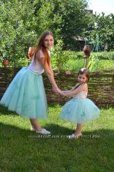 Комплект юбок из фатина Мама и дочка, сестрички, подружки невесты