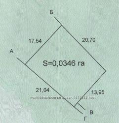 Земельна ділянка 0, 0346 га в с. Угорники