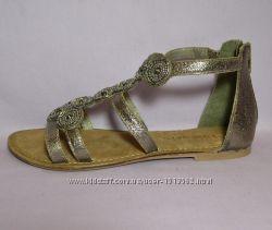 Tamaris, Германия, Оригинал Кожаные сандалии босоножки, расш. бисером, 41и3