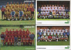 Відкритки із загальними фото команд Бундес-ліги сезону 1987-1988