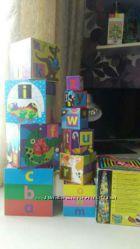 Кубики-блоки Английский алфавит. Melissa & Doug