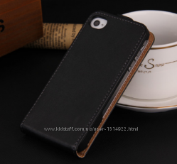 Чехол книжка для iphone 4 4s 5 5s 6 6s 7 8 черный на магните