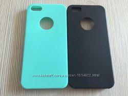 Силиконовые однотонные тонкие чехлы для Iphone 5 5S три цвета