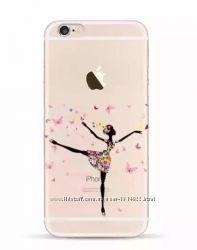 Силиконовый чехол балерина для iphone 7 8