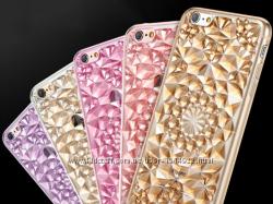 Cиликоновые чехол для iphone 6 6S с эффектом кристалла