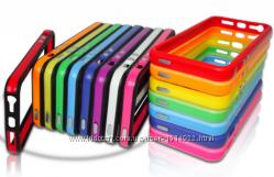 Силиконовый ободок для iphone 4 4S 5 5S Разные цвета