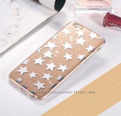 Чехол Золотой со звездами для Apple iPhone 6 6S