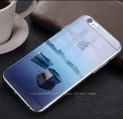 Прозрачные силиконовые чехлы с эффектом в 3D iphone 6 6S