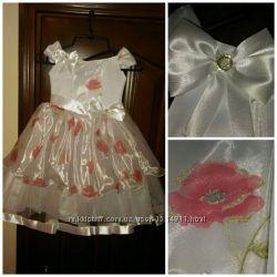 aad896ed8d1 Нарядное платье для девочки 4-6 лет