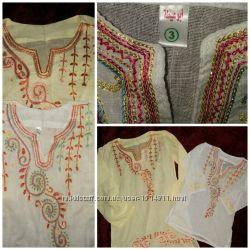 Летняя туника- платье. Набор  мама дочка. Египет