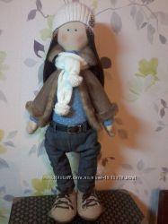 текстильна кукла в стиле тильда