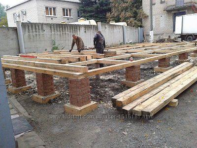 Строительство свайно-ленточного фундамента в г. Донецке.